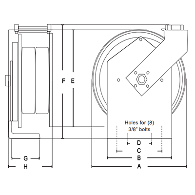 Dimensions for Classic Hose Reels
